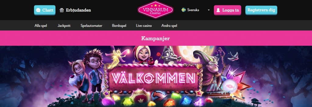 vinnarum casino på nätet
