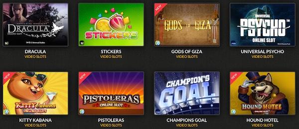 Casino Cruise spelutbud