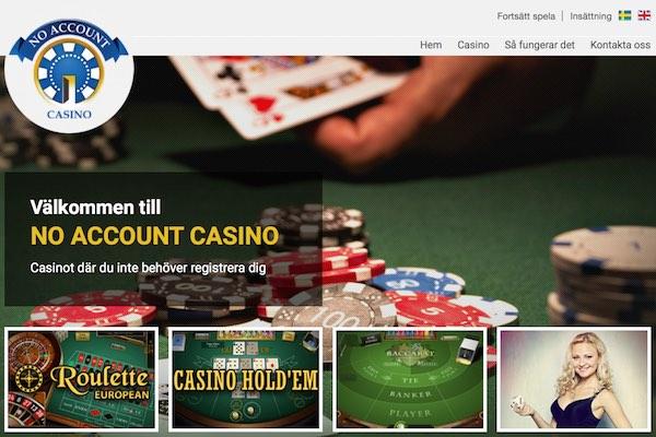 No Account Casino nyacasino