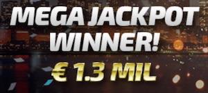 Megafortune 1 miljon