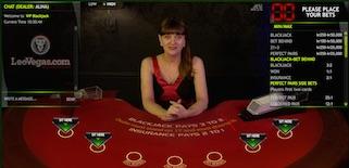 Extreme Live Gaming blackjack