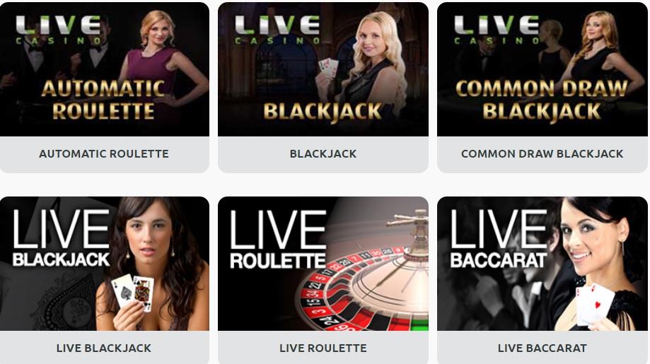 spela live casino online