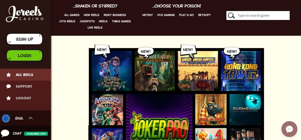 casinospel joreels casino