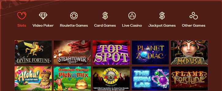 Queen Vegas casino levererar många spel av hög kvalitet