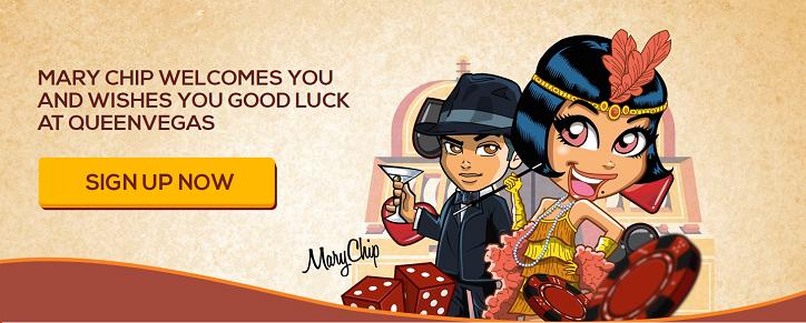 Queen Vegas erbjuder en bekväm casinoupplevelse