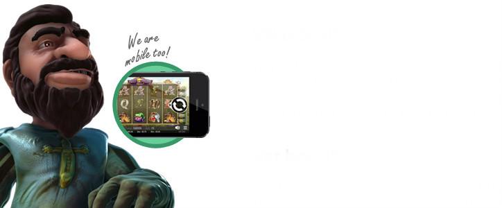 Casino Room erbjuder spelande på mobilen också