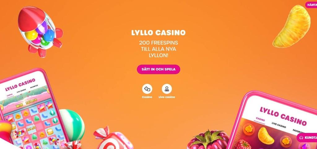 Lyllo Casino svenskt online casino med BankID, Trustly och Swish